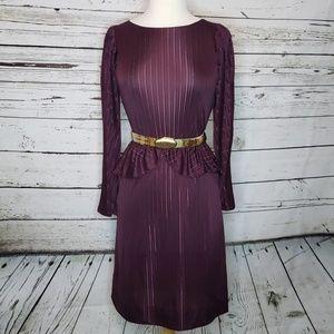 80's Sheer Peplum Dress